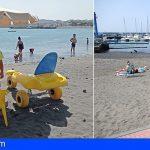La playa de Las Galletas dispondrá del servicio de baño adaptado durante los meses de julio y agosto