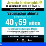 Tenerife realiza este domingo la I jornada de vacunación contra la COVID-19 durante 24 horas