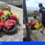 Arico | Promemar recogió 188 kg de basura en una nueva limpieza submarina y de costa en Tajao
