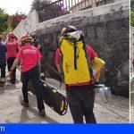 Una mujer herida moderada en Puerto Santiago tras caer en una zona de rocas de la piscina natural Isla Cangrejo