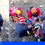 Arona | Rescatan en Roque de Igara a un senderista herido en una pierna