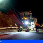 El reasfaltado de la TF-1 avanza seis kilómetros esta semana en el municipio de Granadilla