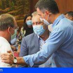 Torres anuncia un decreto ley para ayudar a los afectados ante los efectos del volcán