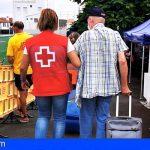 Más de 450 personas evacuadas han pasado ya por el albergue de Cruz Roja en La Palma