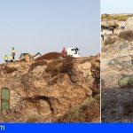 Granadilla   Desalojan cuarenta asentamientos ilegales entre La Mareta y Los Abrigos