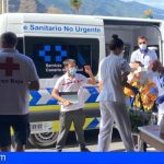 50 personas con movilidad reducida son evacuadas de la zona afectada por la erupción de La Palma