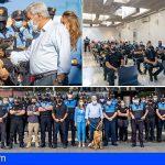 Policías y militares de Canarias acuden al curso para unidades de guías caninos en Adeje