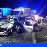 Arona | Dos heridos, uno de ellos grave, en una colisión frontal en el cruce del Palmar
