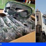 San Miguel envía dos barredoras a La Palma y un lote de gafas de buceo