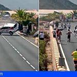Un golpe con un muro deja a Félix Brito por primera vez fuera de la Subida a Tamaimo