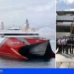El nuevo fast ferry Volcán de Taidía ya está en Las Palmas de Gran Canaria